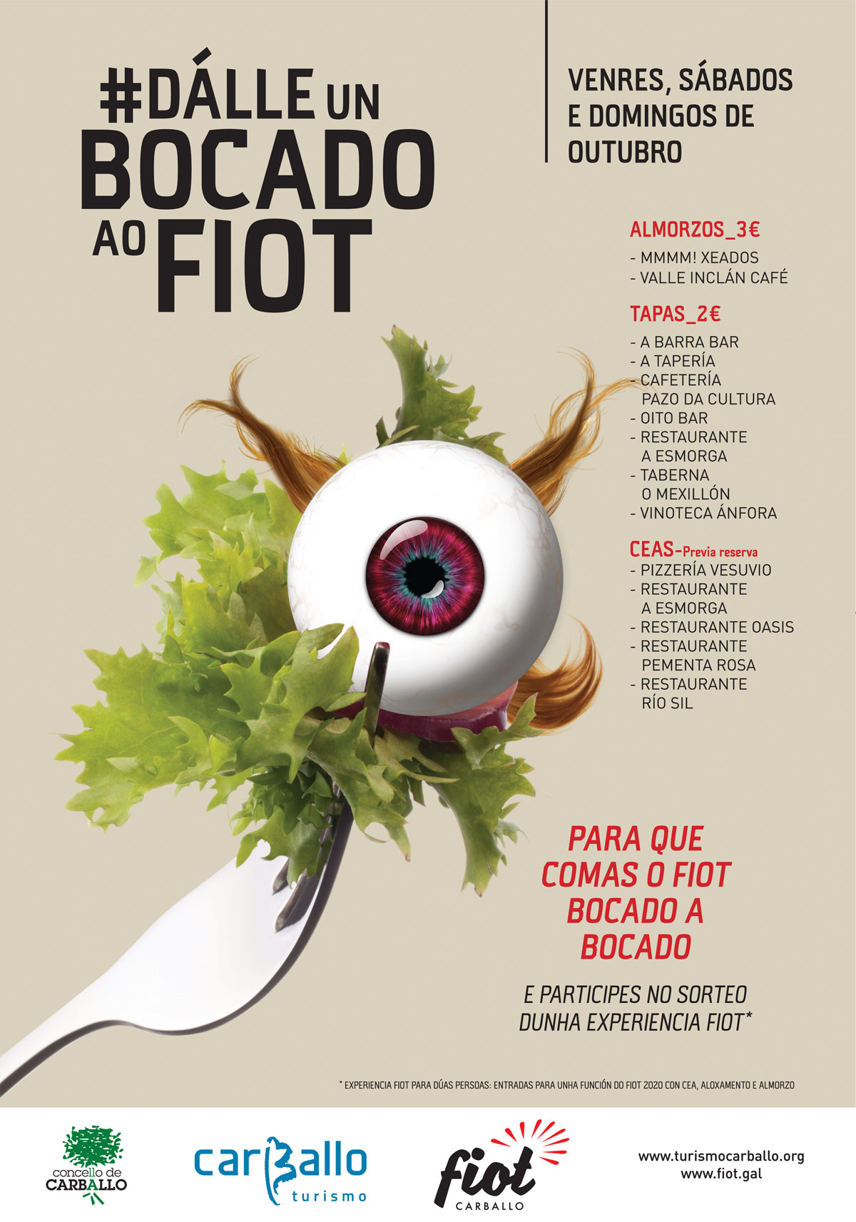 """A ruta gastronómica """"Dálle un bocado ao FIOT"""" continúa medrando e este ano tamén inclúe ceas en cinco restaurantes"""